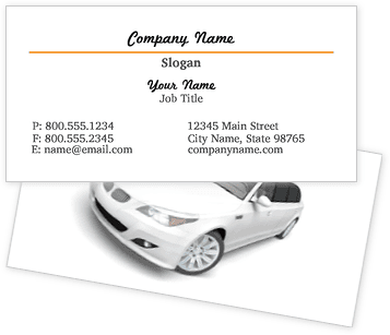 Limo Services Business Cards