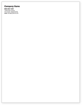 Text Only Letterhead