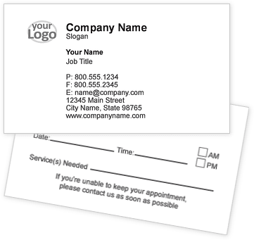 Logo & Image Appointment Cards