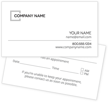 Less is More Appointment Cards