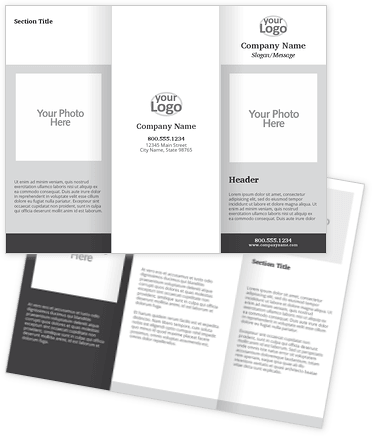 Blank Layout 9 Brochures