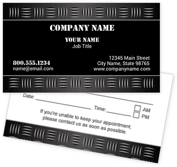 Black Metal Appointment Cards