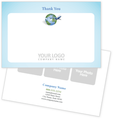 Air Flights Travel Agency Thank You Cards