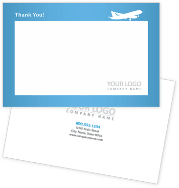 Airline Travel Agency Thank You Cards